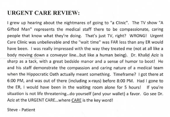 Urgent Care Review